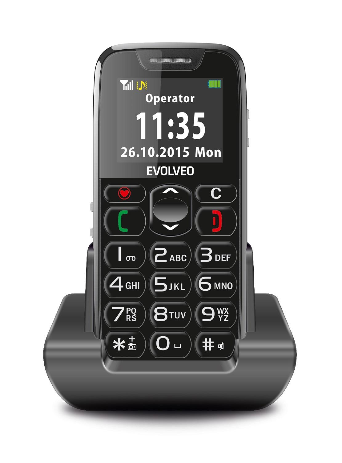 Mobilní telefon Evolveo EasyPhone EP-500 Black