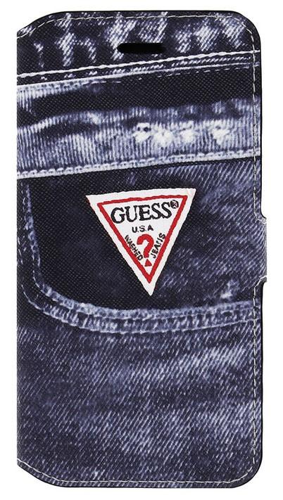 """Stylové pouzdro iPhone 6, 4.7"""" Guess Jeans černé"""