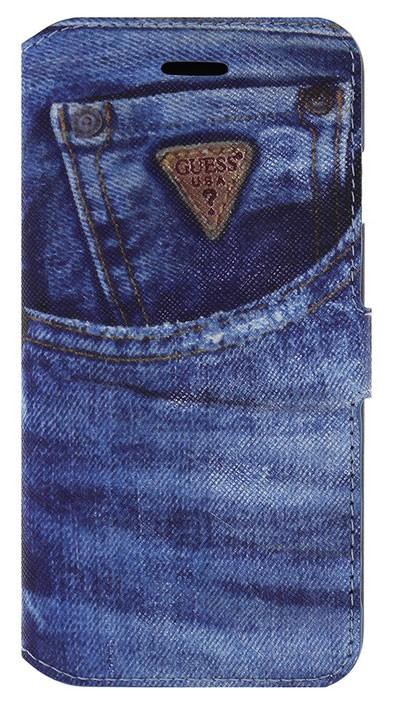 """Stylové pouzdro iPhone 6, 4.7"""", Guess Jeans modré"""