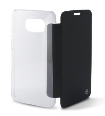 Pouzdro flip na Samsung Galaxy S6 Ksix Folio čiré/černé