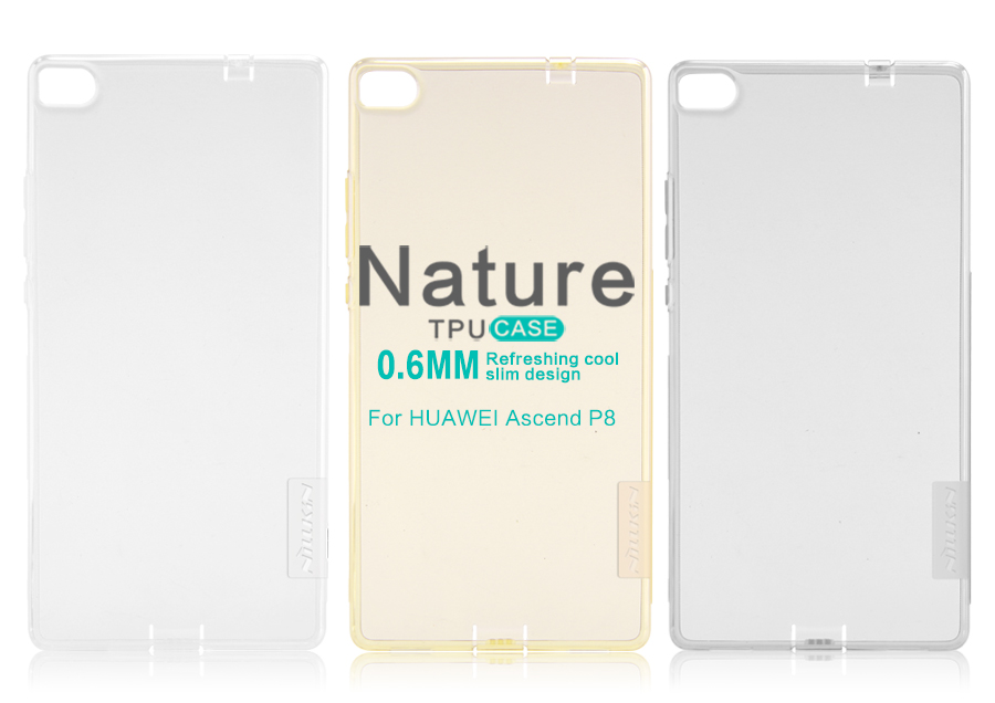 Silikonové pouzdro Nillkin Nature na Huawei Ascend P8 čiré