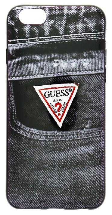 """Zadní kryt na mobil iPhone 6, 4.7"""" Guess Jeans černé"""