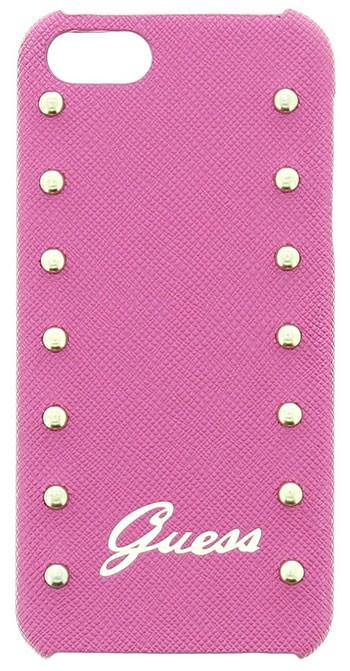 Zadní kryt na mobil iPhone 5S Guess Studded růžové