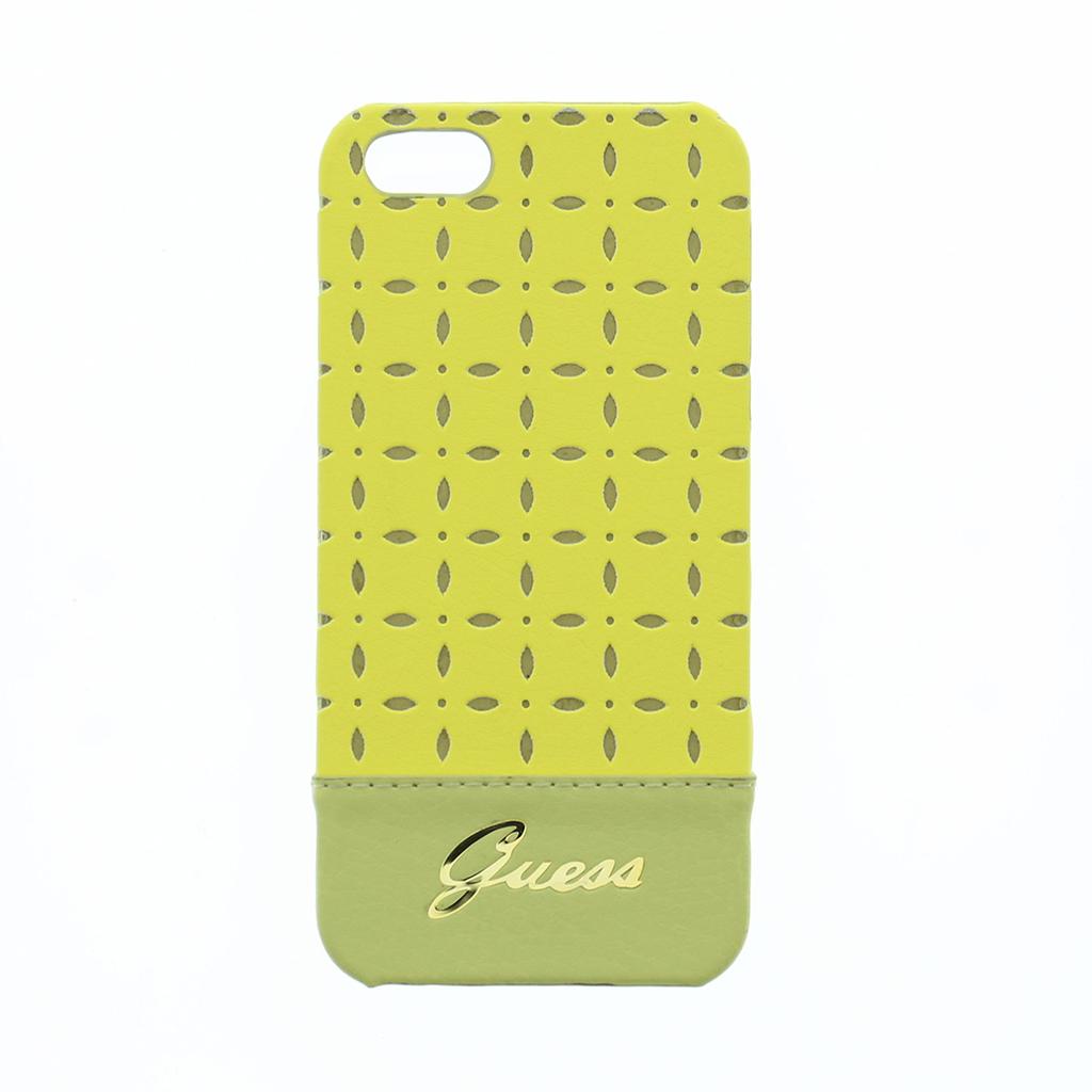 Zadní kryt na mobil iPhone 5S Guess Gianina žluté