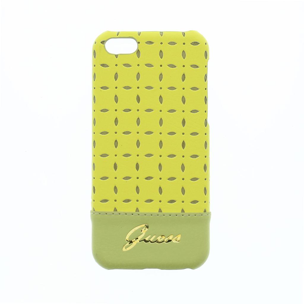 Zadní kryt na mobil iPhone 5C Guess Gianina žluté