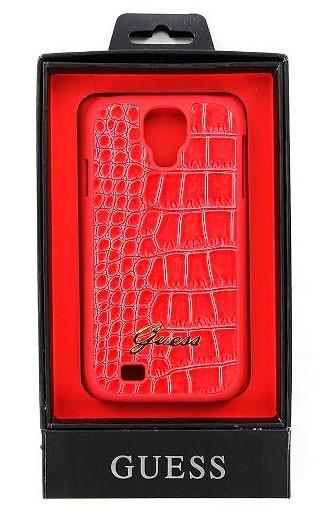Zadní kryt na mobil Samsung Galaxy S4 Guess Croco růžové