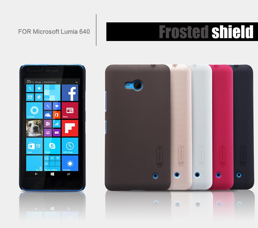 Zadní kryt pro Nokia Lumia 640 XL, Nillkin Super Frosted, hnědý