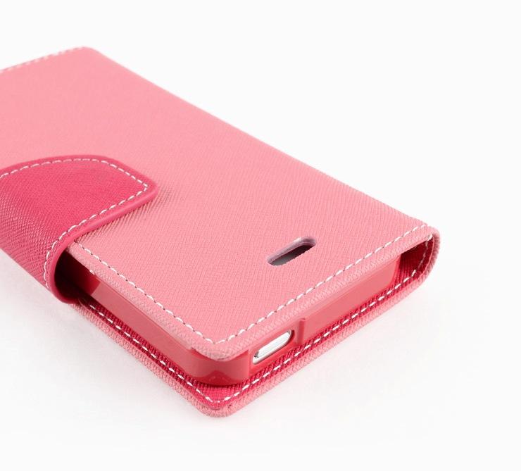 Pouzdro na mobil iPhone 5S Mercury Fancy růžové