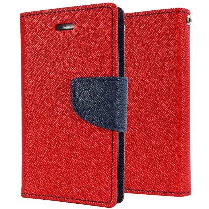 Pouzdro na mobil iPhone 5S Mercury Fancy červeno-modré