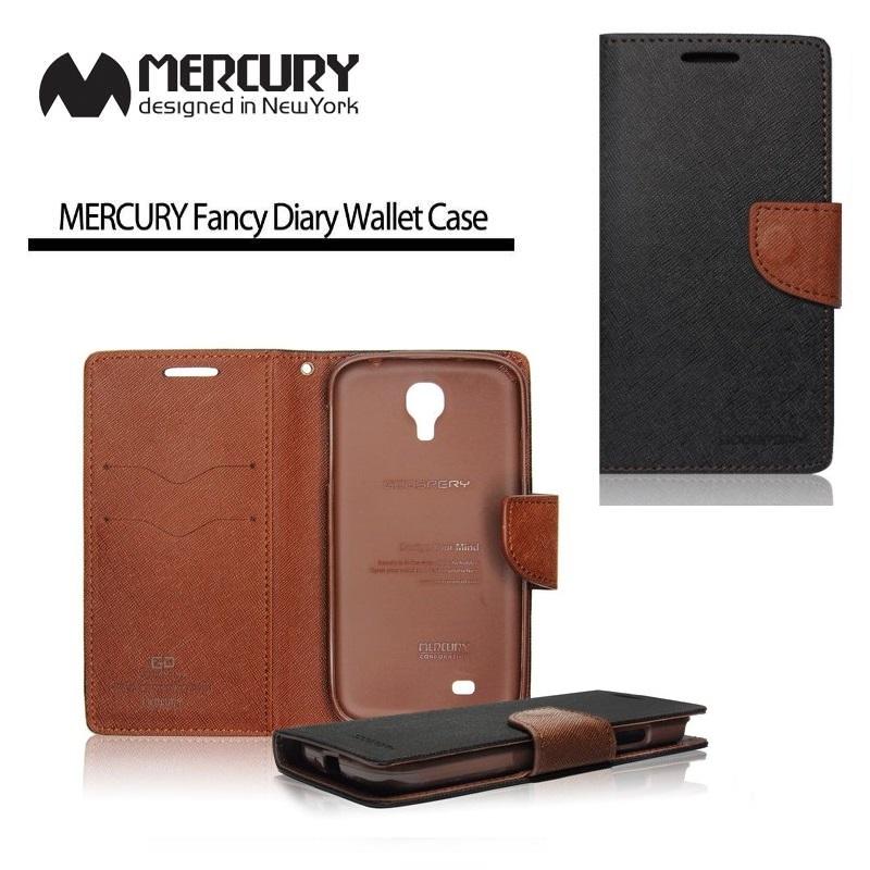 Pouzdro na mobil iPhone 5S Mercury Fancy černo-hnědé - Flipová ... 7b3c0e4acc0