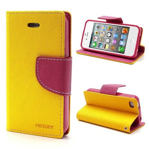 Pouzdro na Samsung Galaxy Note3 Neo Mercury Fancy žluté