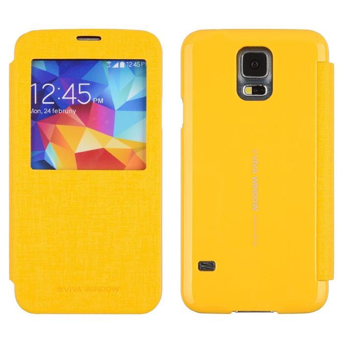 Pouzdro na Samsung Galaxy S6 (G920) Mercury Viva žluté