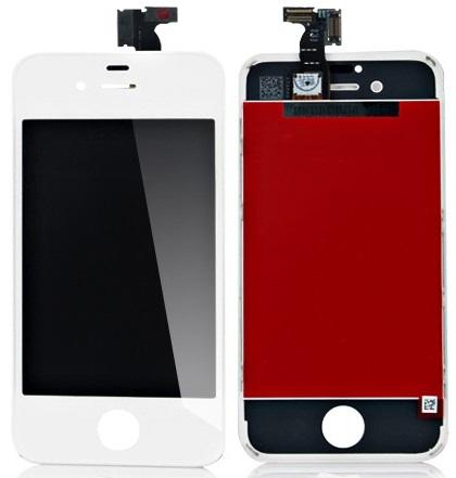 Dotykové sklo a LCD display pro Apple iPhone 4S White originální