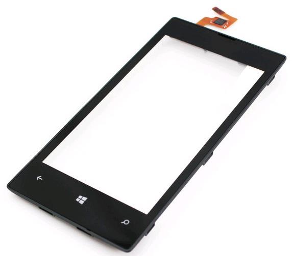 Dotykové sklo a přední kryt pro Nokia Lumia 520, black