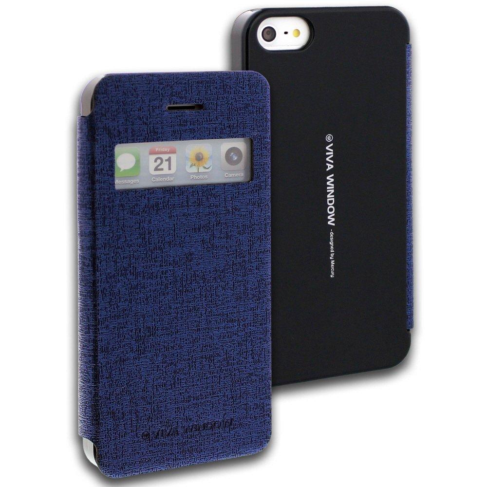 Pouzdro na mobil iPhone 5S Mercury Viva modré