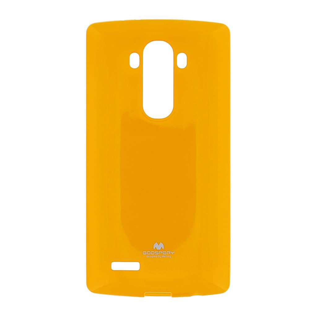 Silikonové pouzdro na LG G4 (H815) Mercury Jelly žluté