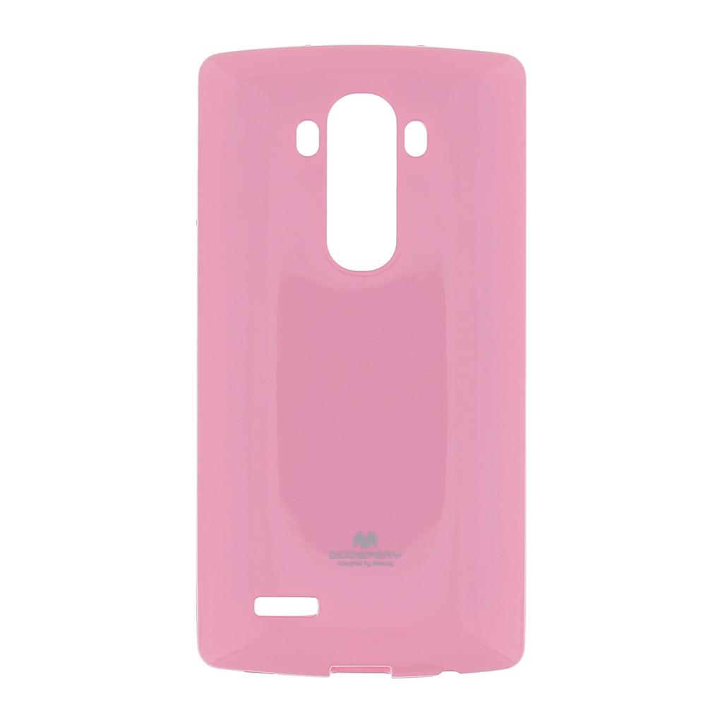 Silikonové pouzdro na LG G4 (H815) Mercury Jelly světle růžové