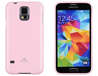 Pouzdro na Samsung Galaxy S6 Edge Mercury Jelly světle růžové