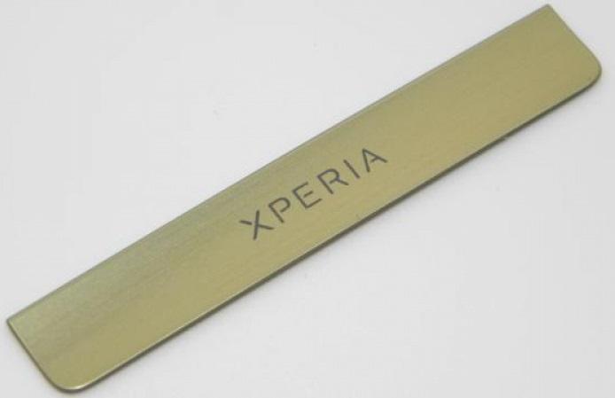 dekorativní štítek pro Sony Ericsson Xperia Miro ST23i Gold