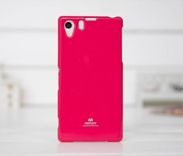 Silikonové pouzdro na Sony Xperia Z3 Mercury Jelly tmavě růžové