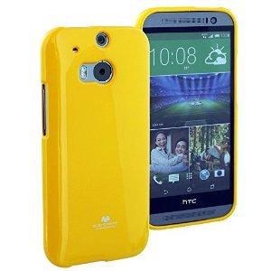 Silikonové pouzdro na HTC ONE M8 Mercury Jelly žluté