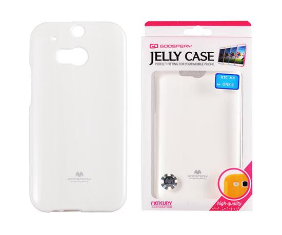 Silikonové pouzdro na HTC ONE M8 Mercury Jelly bílé
