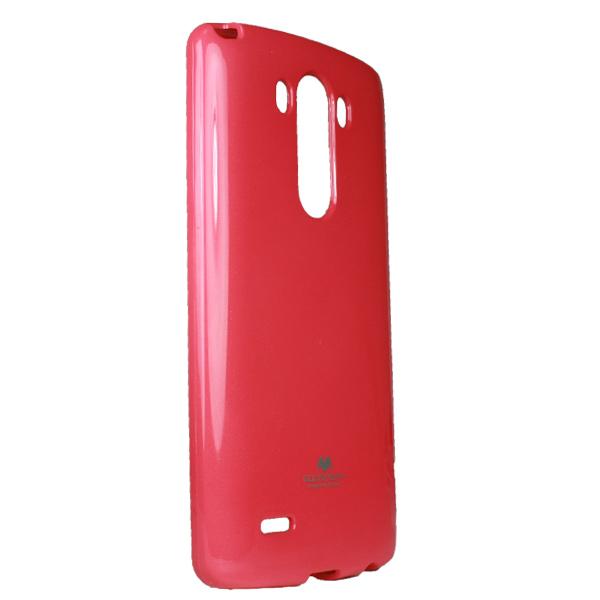 Silikonové pouzdro na LG L70 Mercury Jelly tmavě růžové