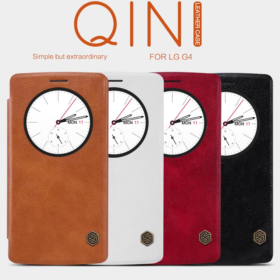 Pouzdro Nillkin Qin S-View LG G4 (H815) hnědé