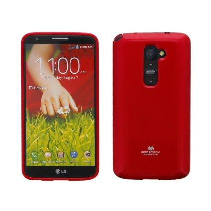 Silikonové pouzdro na LG L40 (D160) Mercury Jelly červené