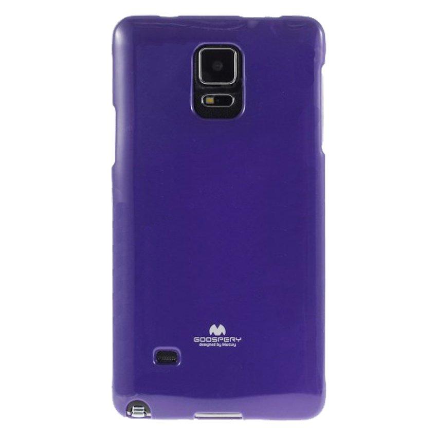 Pouzdro na Samsung Galaxy Note4 Edge Mercury Jelly fialové