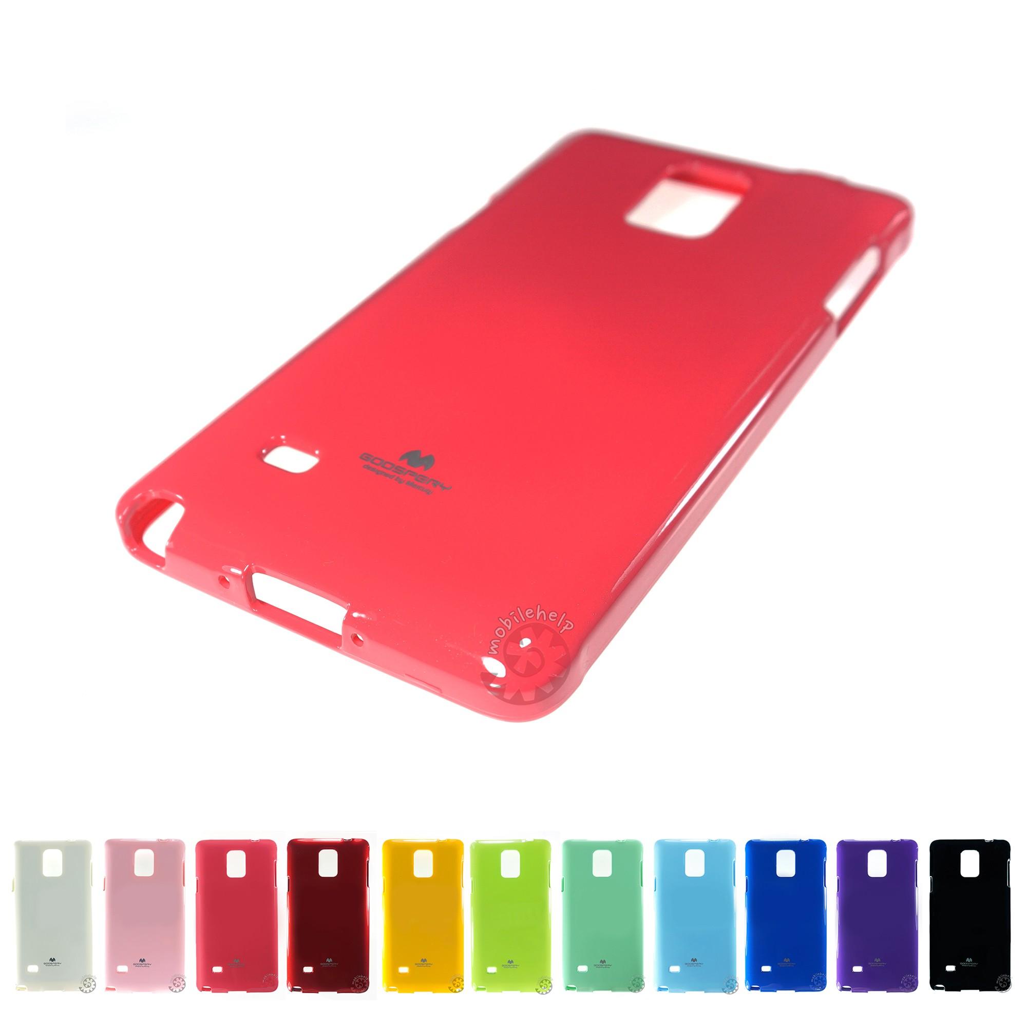 Pouzdro na Samsung Galaxy Note4 Edge Mercury Jelly tmavě růžové
