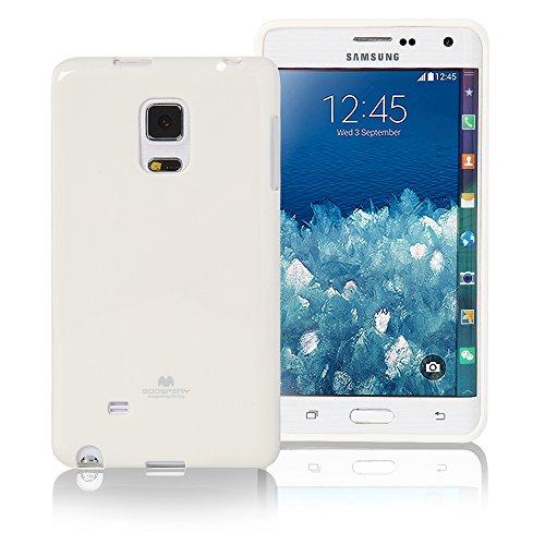 Pouzdro na Samsung Galaxy Note4 Edge Mercury Jelly bílé