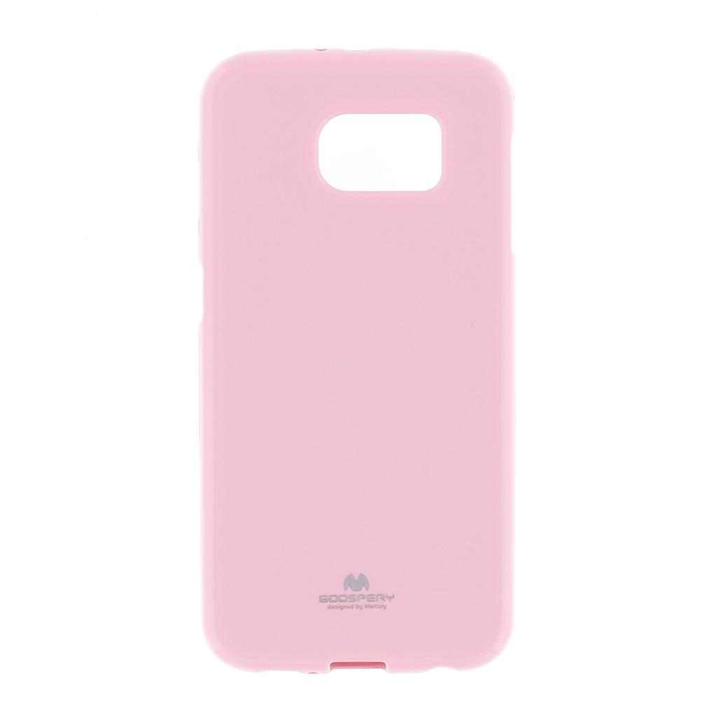 Pouzdro na Samsung Galaxy A7 (A700) Mercury Jelly světle růžové