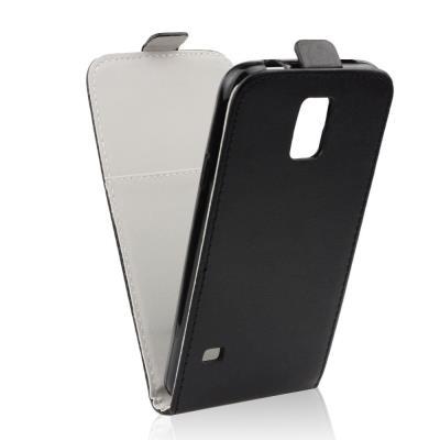 Pouzdro flip na Samsung Galaxy S5 Mini ForCell Slim Flexi Fresh černé