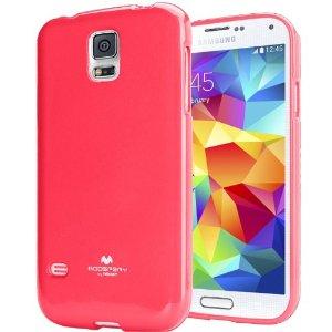Pouzdro na Samsung Galaxy S5 (G900) Mercury Jelly tmavě růžové