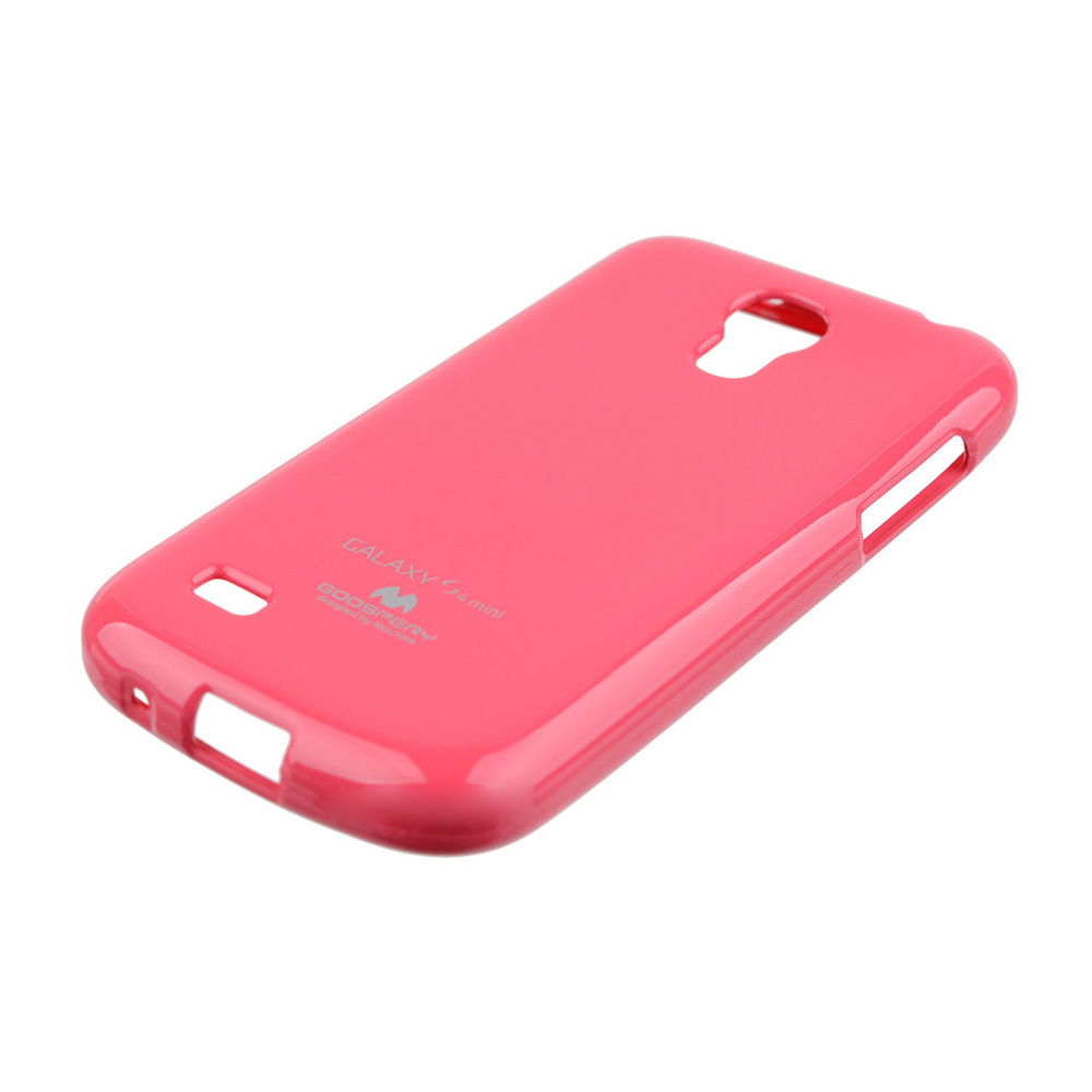 Pouzdro na Samsung Galaxy S4mini Mercury Jelly tmavě růžové