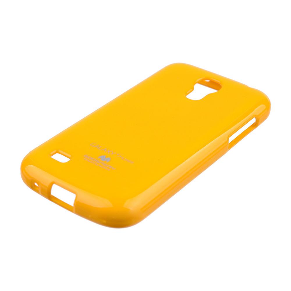 Pouzdro na Samsung Galaxy S4mini Mercury Jelly žluté