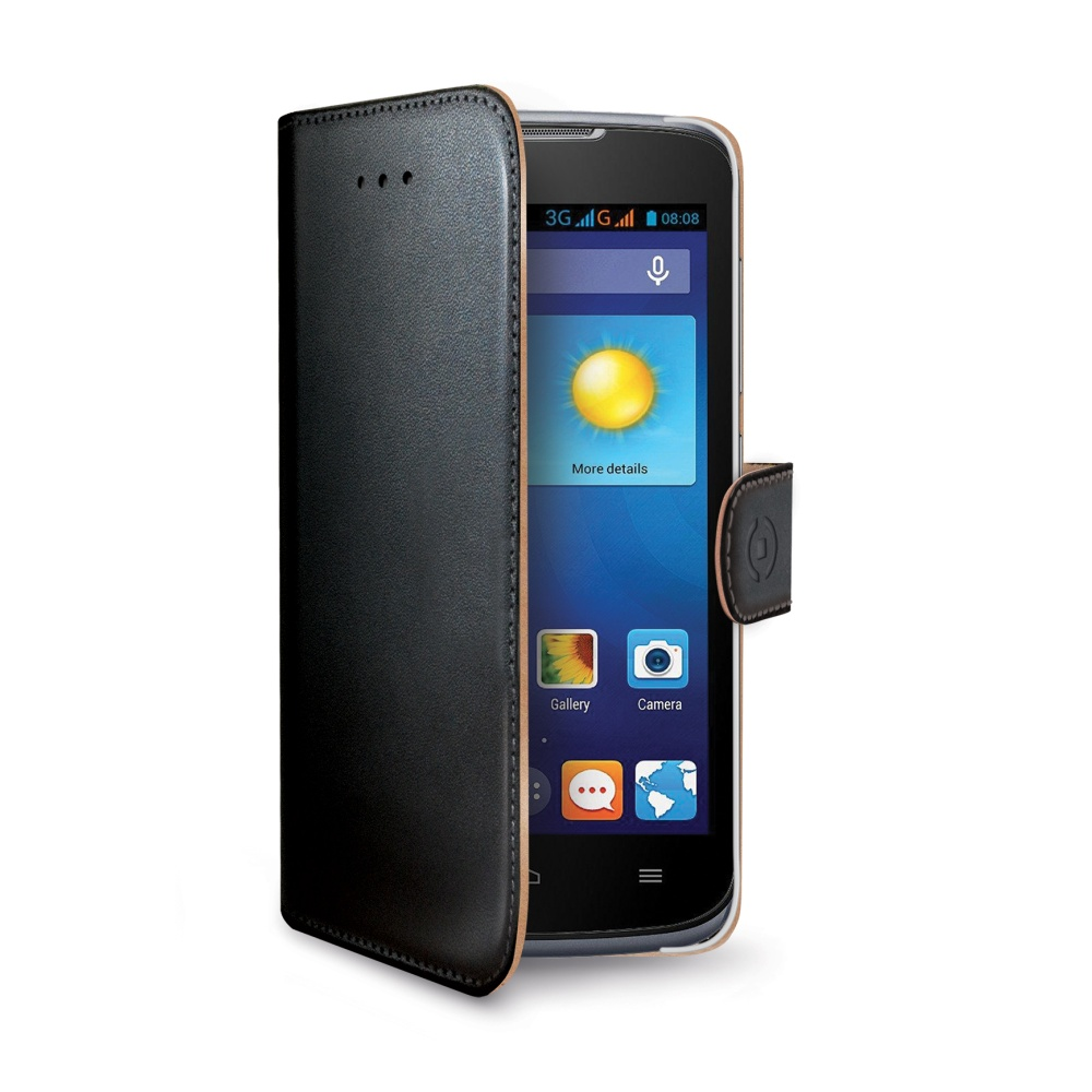 Kožené pouzdro na Huawei Y540 CELLY Wally černé
