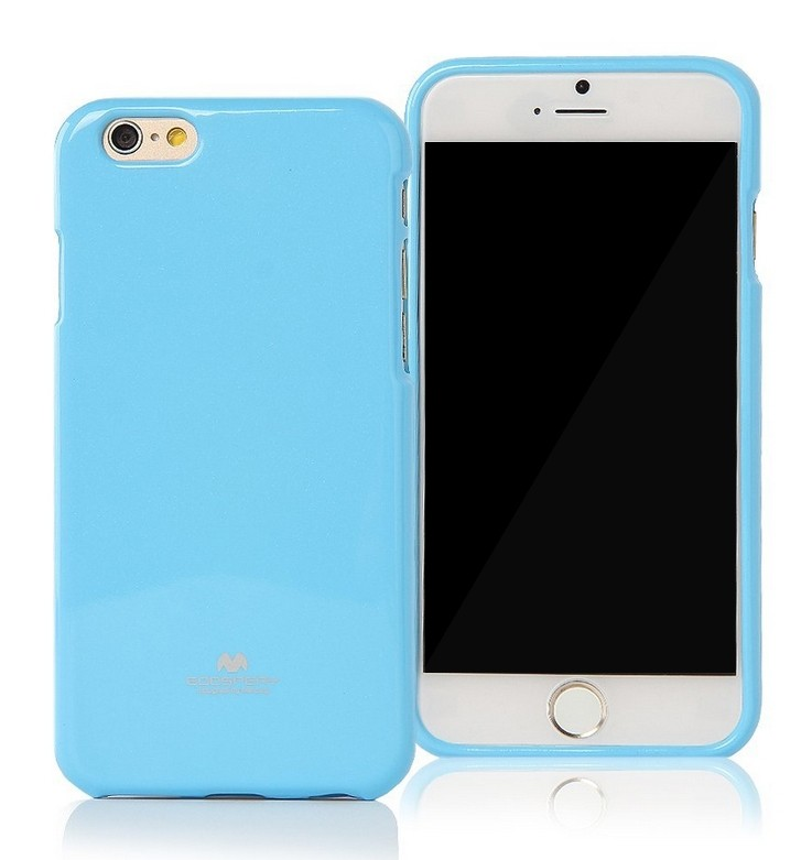 Silikonové pouzdro na iPhone 6, 4.7 Mercury Jelly modré
