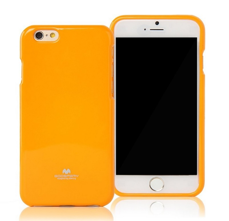 Silikonové pouzdro na iPhone 6, 4.7 Mercury Jelly žluté