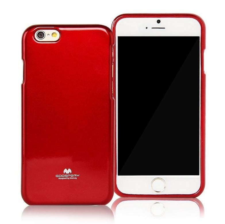 Silikonové pouzdro na iPhone 6, 4.7 Mercury Jelly červené