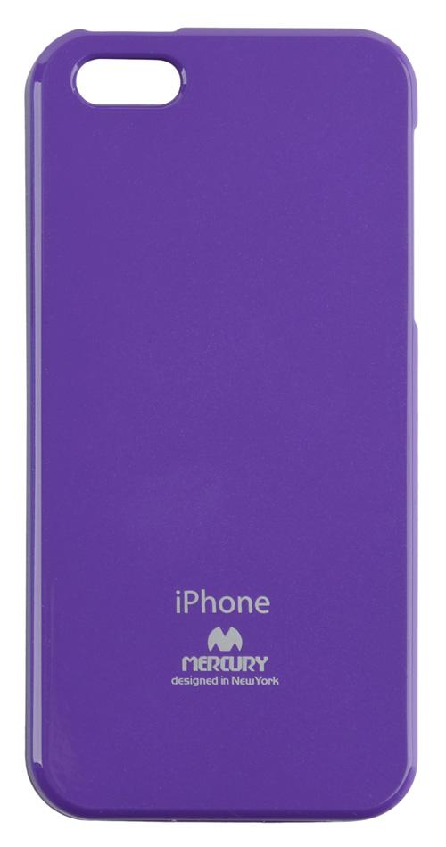 Silikonové pouzdro na iPhone 5S Mercury Jelly fialové