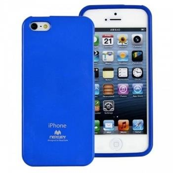 Silikonové pouzdro na iPhone 5S Mercury Jelly modré
