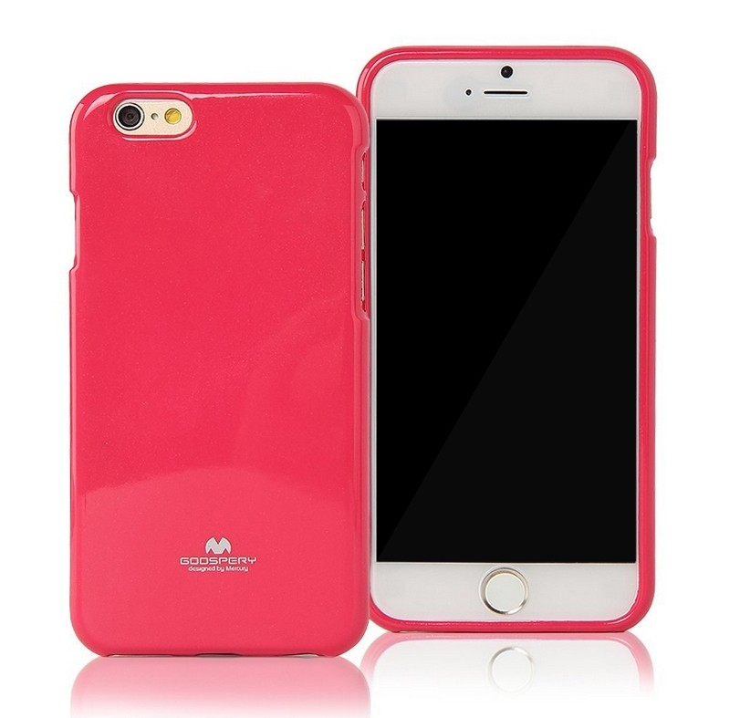 Silikonové pouzdro na iPhone 5S Mercury Jelly tmavě růžové
