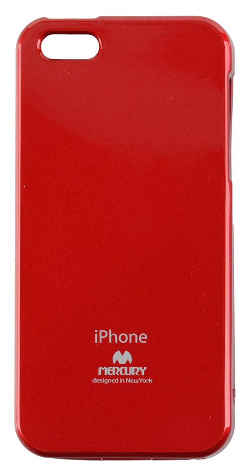 Silikonové pouzdro na iPhone 5S Mercury Jelly červené