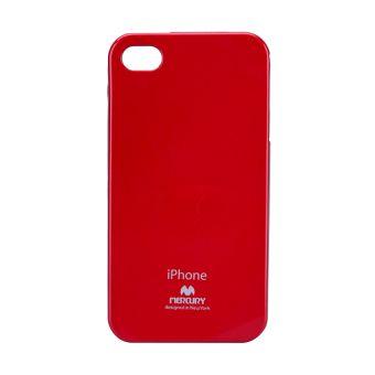 Silikonové pouzdro na iPhone 4S Mercury Jelly červené