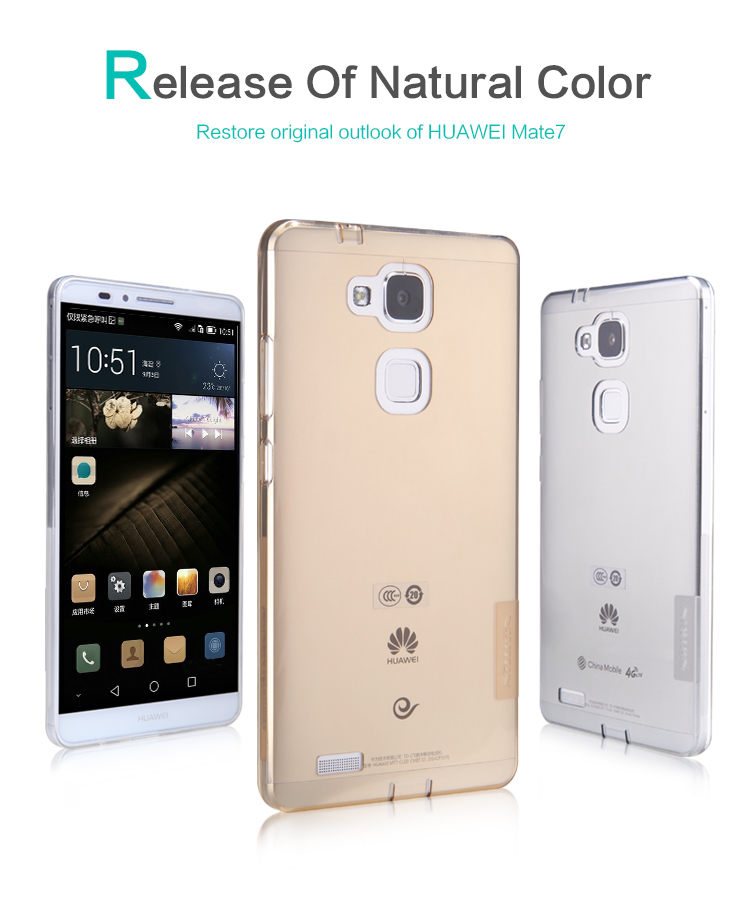 Silikonové pouzdro Nillkin Nature na Huawei Ascend Mate7 čiré