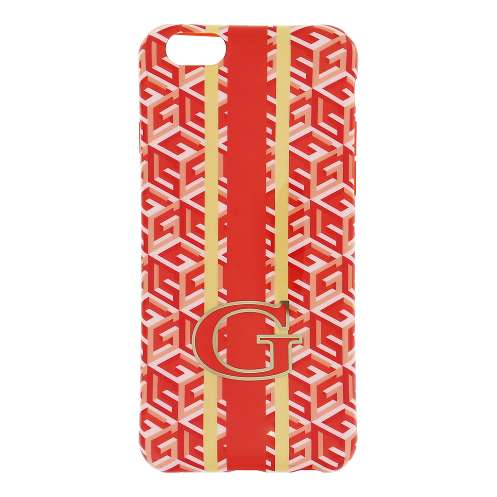 "Silikonové pouzdro na iPhone 6, 4.7"" Guess G-Cube GUHCP6GCUOR oranžové"