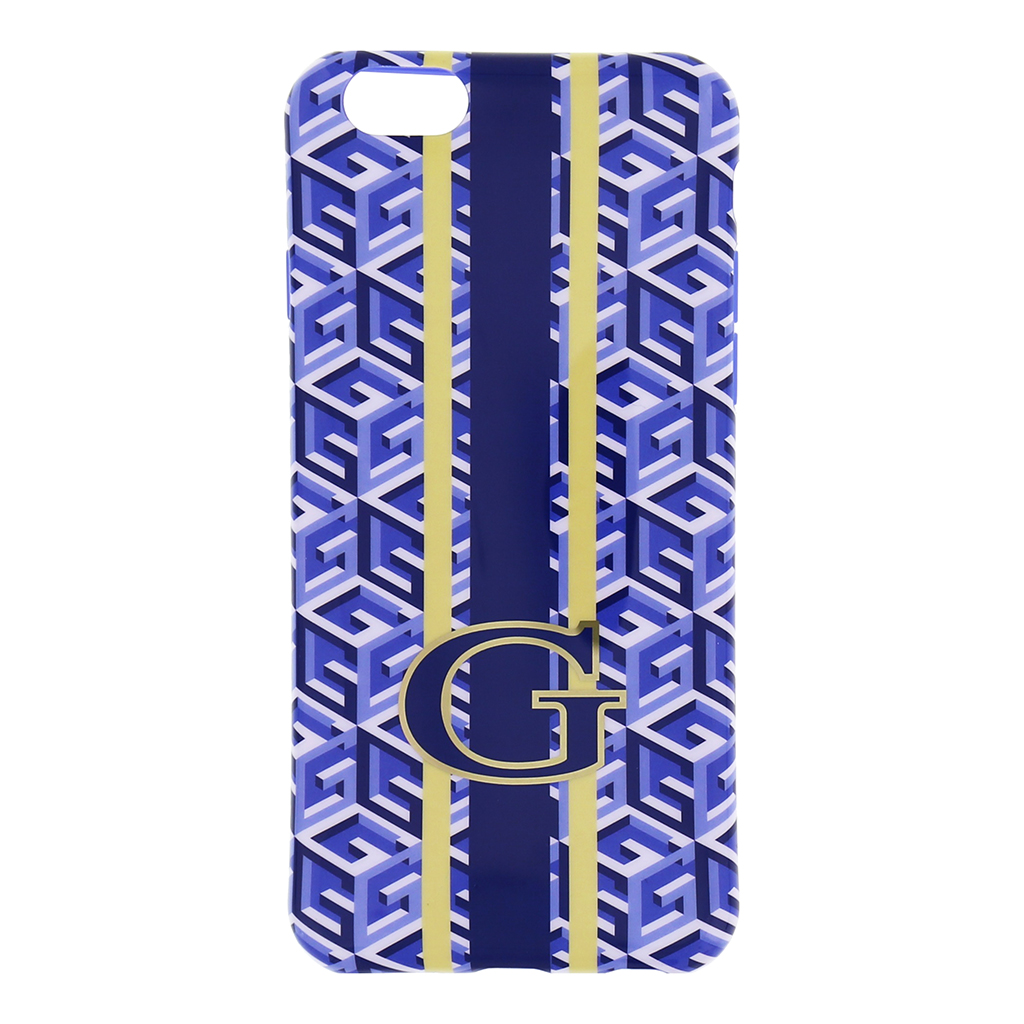 "Silikonové pouzdro na iPhone 6, 4.7"" Guess G-Cube GUHCP6GCUBL modré"