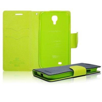 Pouzdro na mobil Samsung Alpha Mercury Fancy modré/limetka